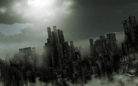 Gloomy apocalyptic scenery