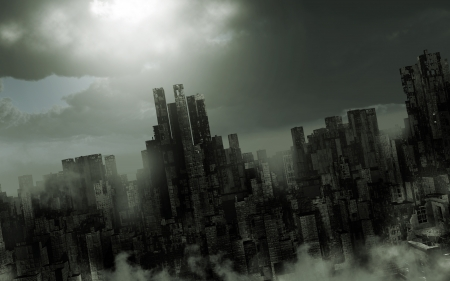 Gloomy apocalyptic scenery Фото со стока - 23336773