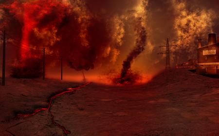 paesaggio industriale: Apocalyptic paesaggio industriale