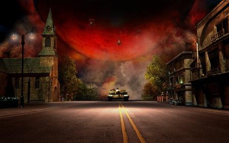battle: Small village battle scenery