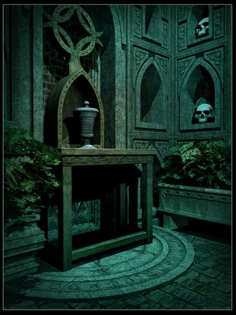 crypt: Interior of a fantasy crypt