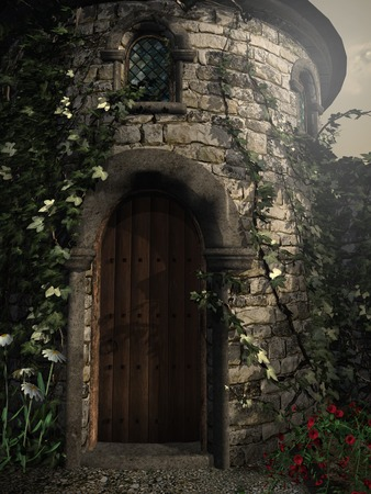 entrance: Entrance to the tower Stock Photo