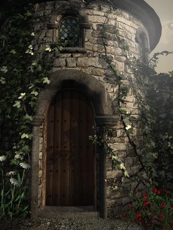 Entrance to the tower Фото со стока - 55443264