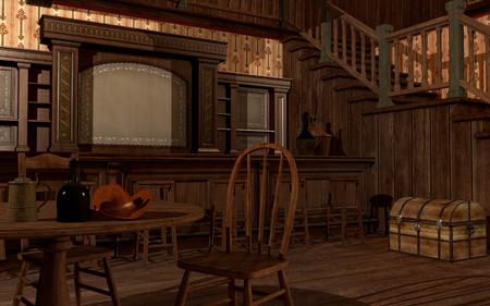 Old wild west saloon Zdjęcie Seryjne