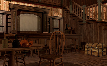 Old wild west saloon Foto de archivo