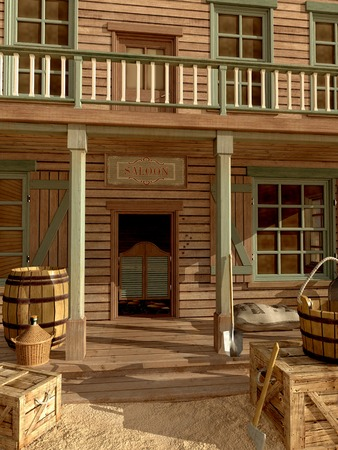 old west: Old west saloon