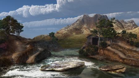 roaring: Roaring mountain river