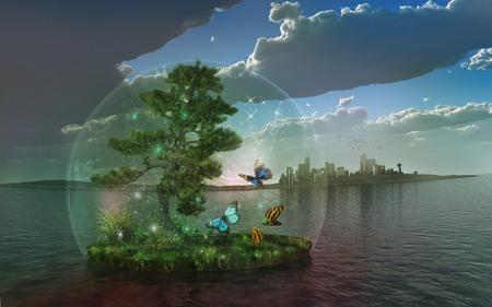 L'écosystème isolé Banque d'images