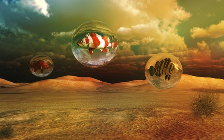 sequias: La sequ�a en el desierto Foto de archivo