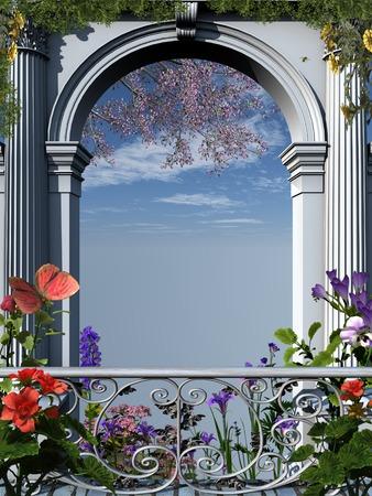 flowery: Roman flowery arch