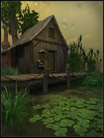 Cottage on a swamp