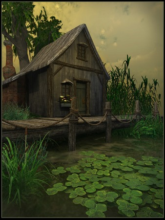 marsh: Cottage on a swamp