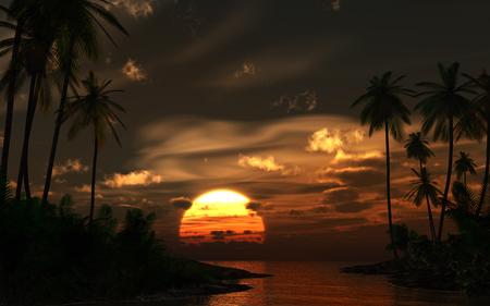tropics: Sunset in the tropics