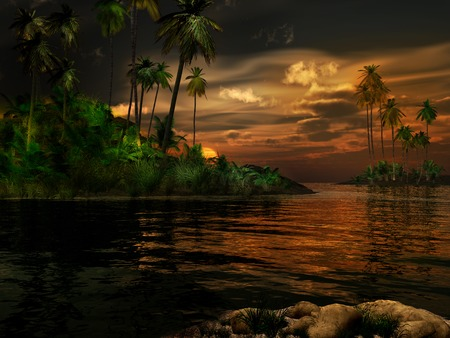 tropics: Sunset in the tropics