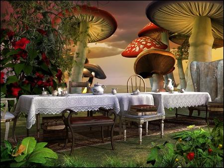 魔法の庭でお茶