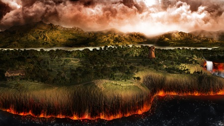 end of the world: Land at the end of the world