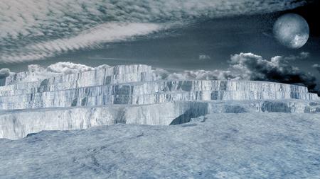glacier: Glacier in an arctic region
