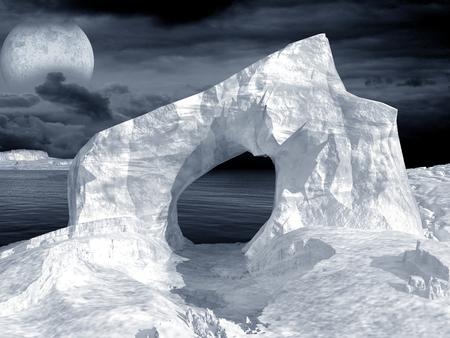 arctic: Ice arch on the arctic sea