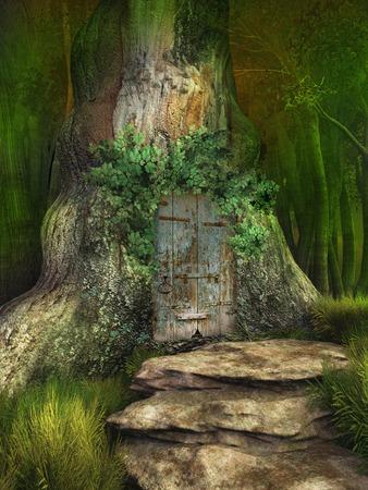 Door to elven tree house