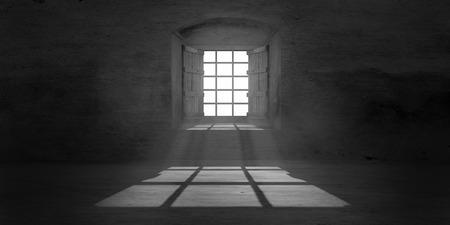 dusty: Window in old dusty cellar