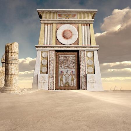 古代エジプトの寺院の遺跡