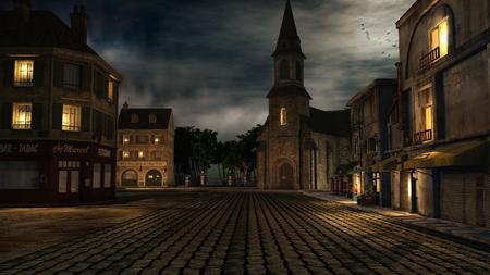 night: City square at night