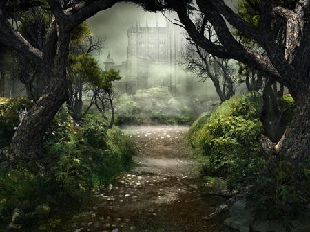 Mysteus 城への通路 写真素材