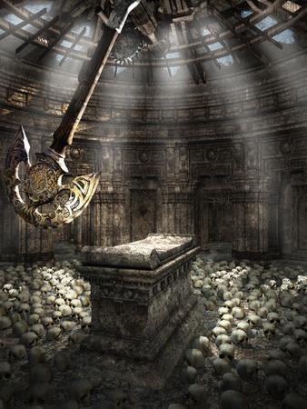 pendulum: Chamber with pendulum and skulls