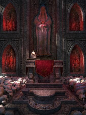 chapel: Chapel made of skulls