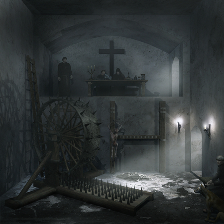 inquisition: Inquisition interrogation chamber Stock Photo