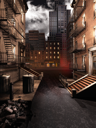 city: City street at night Stock Photo
