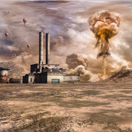 explosion nucléaire près de l'usine