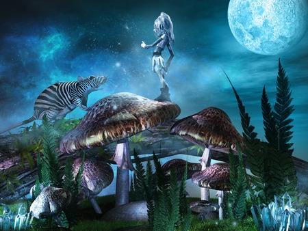 fantasy: Elf and fantasy rat