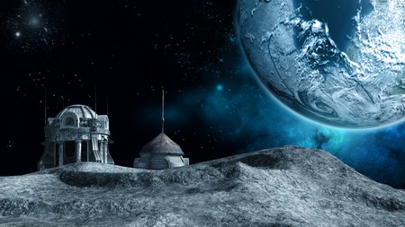 moon: Outpost on the moon