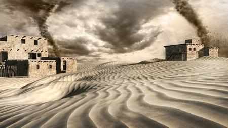desert storm: Two tornadoes on the desert