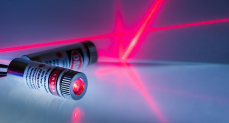 coherent: Two red laser modules turned on