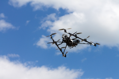 An aerial photography RC helicopter on the fly