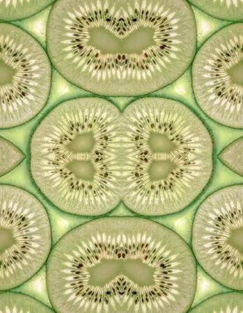 Seamless with juicy kiwi slices photo