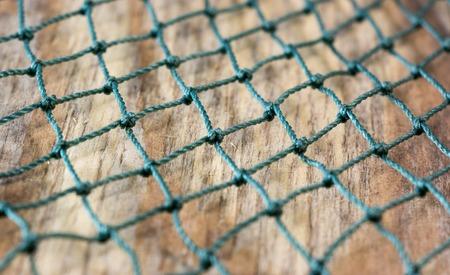Nylon fishing net Stock Photo