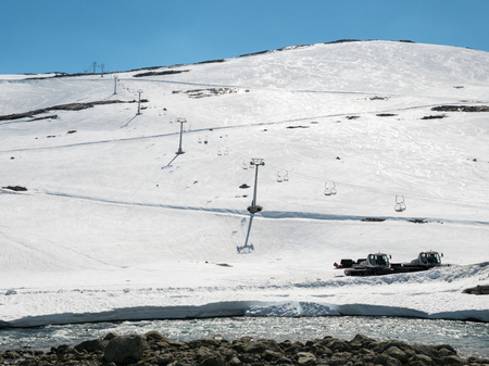 Summer skiing center in Stryn Norway Stock Photo