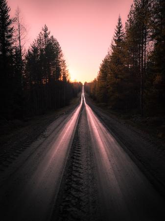 Straight gravel road