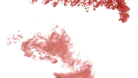 Copper ink spreading downward in water. Stylish footage for animated projects or VFX. Make eye-catching sequences that feature an organic look. Everyone will love the stylish and painterly look of your next visual project.