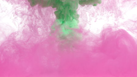 Green and Pink ink in water shooting with high speed camera. Make your next amazing motion graphics projects or visual effects composites feel organic and unique. Use for backgrounds, overlays or displacement maps requiring a unique and cool look.