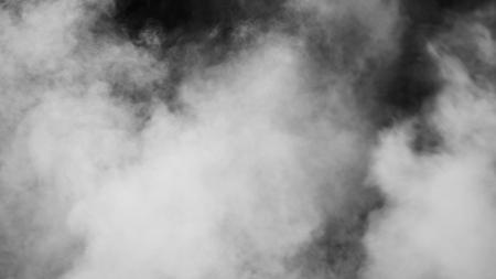 vapor on black background