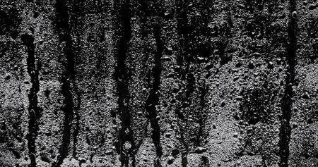 Water drops after the rain in a dark window Stok Fotoğraf