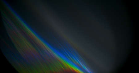 Spectrum Light Flare Prism Rainbow Light Flares Overlay on Black Background