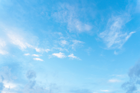 sky blue with cloud background