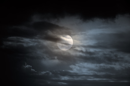 mood moody: Dark overcast full moon night