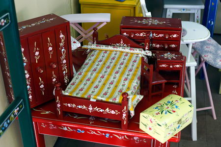 Traditional furniture, toys and decoration objects from Alentejo, Portugal photo
