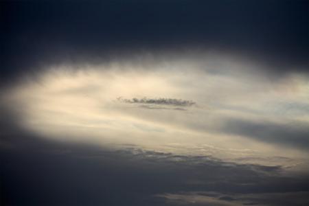 Overcast sunset before rain and storm photo